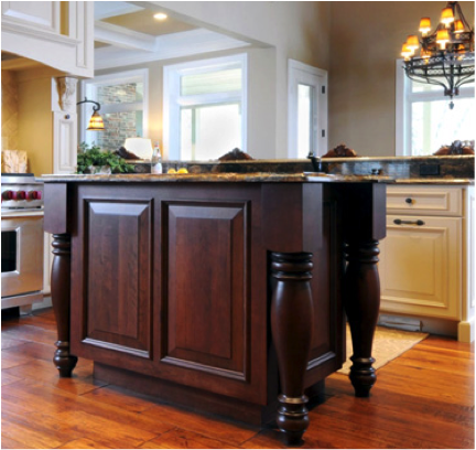 Furniture Style Island Cabinetry In Omaha Kitchen Remodel